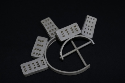 Appartment blocks, brooch, silver, 95x105x115, Mihaela Coman